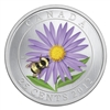25c 2012 Coloured Coin - Aster with Bumble Bee