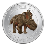25 cent 2012 Dinosaur Glow-In-The-Dark Coin - Pachyrhinosaurus Lakustai