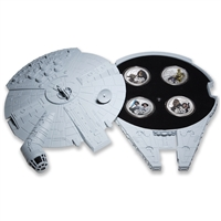 2011 $2 Star Wars Set with Millennium Falcon Case - 4 oz. Pure Silver Coin Set