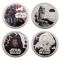 2011 $2 Star Wars Set with Darth Vader Case - 4 oz. Pure Silver Coin Set