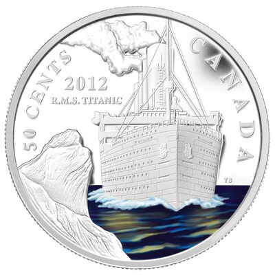 50c 2012 Silver Plated R.M.S.TITANIC