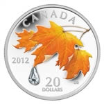 $20 2012 Fine Silver Coin - Sugar Maple Crystal Raindrop