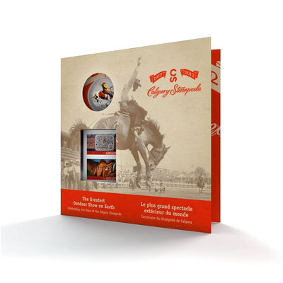 25c 2012 Coloured Coin and Stamp Set - 100 Years of the Calgary Stampede