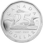 $1 2012 Fine Silver Coin - 25th Anniversary of the Loonie