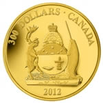 $300 2012 14kt Gold Coin - Provincial Coat of Arms - Nunavut