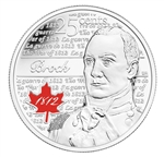 25c 2012 Heroes of 1812 - Sir Isaac Brock - 10 pack