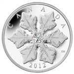 $20 2012 Fine Silver Coin - Holiday Snowflake with Crystal