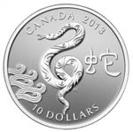 $10 2013 Fine Silver Coin - Year of the Snake
