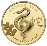 $150 2013 Gold Coin - Year of the Snake