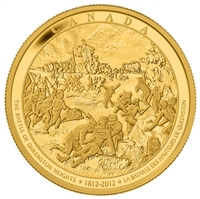 $2500 Pure Gold Coin - The War of 1812 - The Battle of Queenston Heights