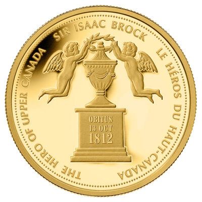 $350 2012 Pure Gold Coin - Sir Isaac Brock, The Hero of Upper Canada