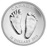 $10 2013 1/2oz Fine Silver - Welcome to the World