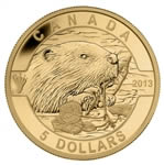 $5 2013 Pure Gold - O Canada Series - The Beaver