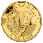 $5 2013 Pure Gold Coin - O Canada Series - The Polar Bear