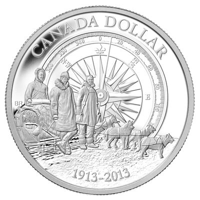 $1 2013 Proof Silver Dollar - Arctic Expedition