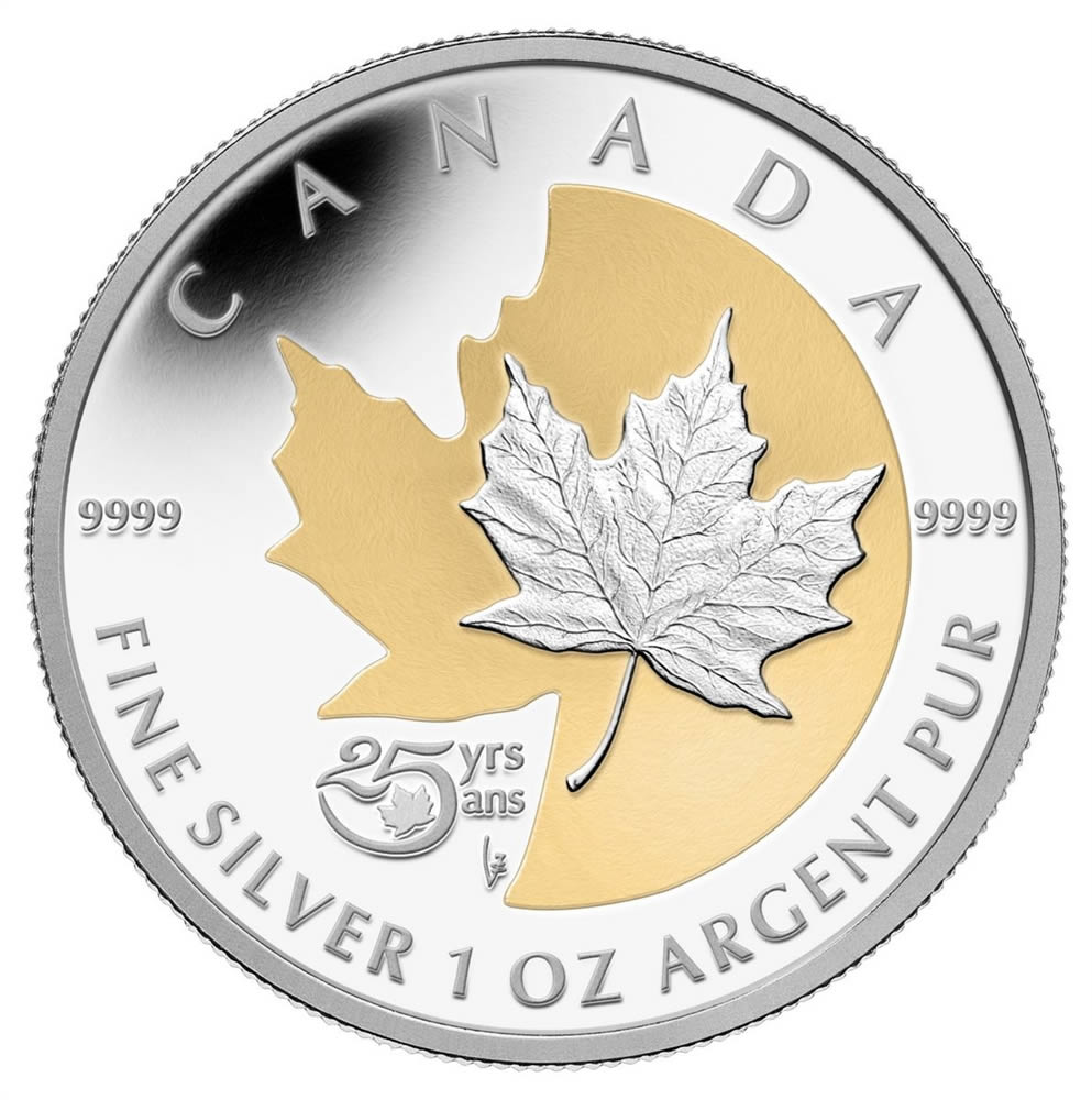 5 2013 Fine Silver Coin With Selective Gold Plating