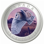 25c 2013 Coloured Coin - Barn Owl