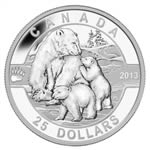 $25 2013 Fine Silver Coin - O Canada Series - The Polar Bear
