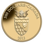 $300 2013 14Kt Gold Coin - Territorial Coat of Arms - Northwest Territories