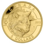 $5 2013 Pure Gold Coin - O Canada Series - The Wolf