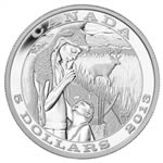 $5 2013 Fine Silver Coin - Tradition of Hunting - Deer