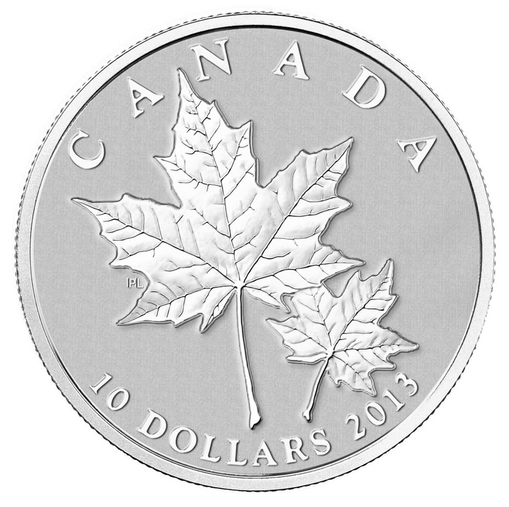10 2013 Fine Silver Coin Maple Leaf Royal Canadian