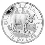 $10 2013 Fine Silver Coin - O Canada Series - The Wolf