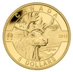 $5 2013 Pure Gold Coin - O Canada Series - The Caribou