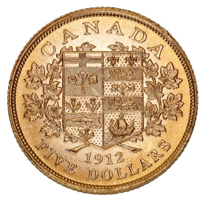 $5 1912 Hand-Selected Gold Coins - Canada's First Gold Coins