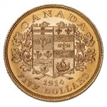 $5 1914 Hand-Selected Gold Coins - Canada's First Gold Coins