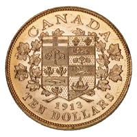 $10 1913 Hand-Selected Gold Coins - Canada's First Gold Coins