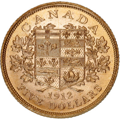 $5 1912 Premium Hand-Selected Gold Coins - Canada's First Gold Coins