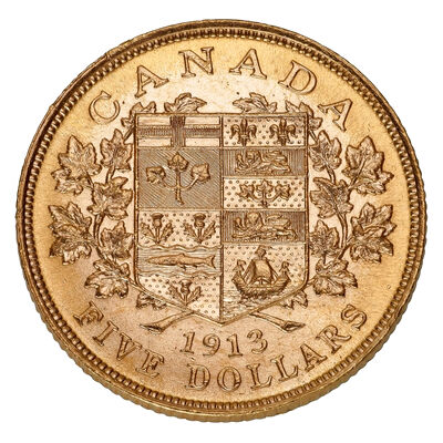 $5 1913 Premium Hand-Selected Gold Coins - Canada's First Gold Coins