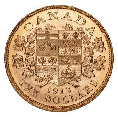 $10 1913 Premium Hand-Selected Gold Coins - Canada's First Gold Coins