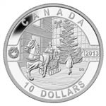 $10 2013 Fine Silver Coin - O Canada Series - Holiday Season