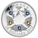 $20 2013 Fine Silver Coin - Holiday Wreath