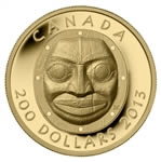 $200 2013 Pure Gold Coin - Grandmother Moon Mask