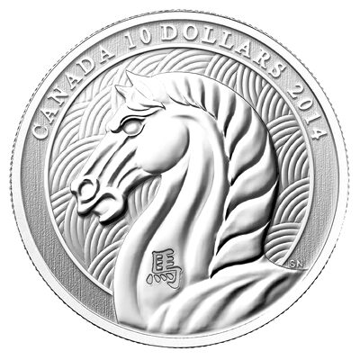 $10 2014 Fine Silver Coin - Year of the Horse