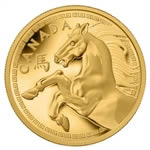 $2500 2014 Pure Gold Coin - Year of the Horse