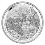 $250 2013 Silver Coin - Battle of Chateauguay