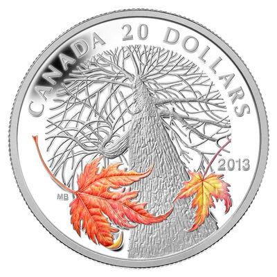 $20 2013 Fine Silver Coin - Canadian Maple Canopy (Autumn)