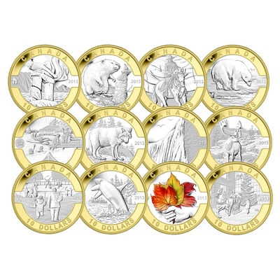 2013 Selectively Gold Plated O Canada Set