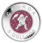 $5 2013 Fine Silver Coin - Contemporary Aboriginal Art: Mother and Baby Ice Fishing