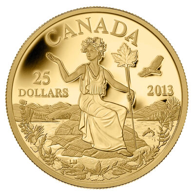 $25 2013 Pure Gold Coin - Canada: An Allegory