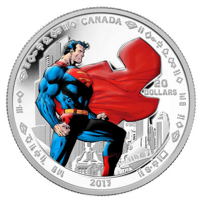 $20 2013 Fine Silver Coin - 75th Anniversary of Superman™: Man of Steel