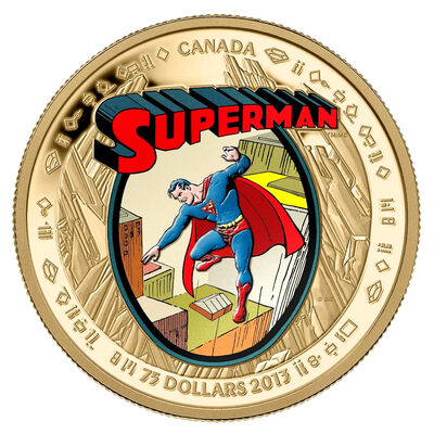 $75 14kt Gold Coin - 75th Anniversary of Superman™: The Early Years