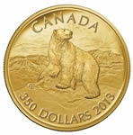 $350 2013 Pure Gold Coin - Iconic Polar Bear