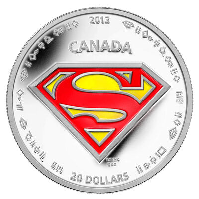 $20 2013 Fine Silver Coin - 75th Anniversary of Superman™: The Shield