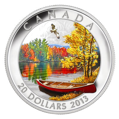 $20 2013 Fine Silver Coin - Autumn Bliss
