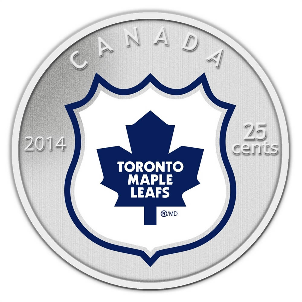 25c 2014 Nhl Coin And Stamp Gift Set Toronto Maple Leafs Royal Canadian Mint Coins